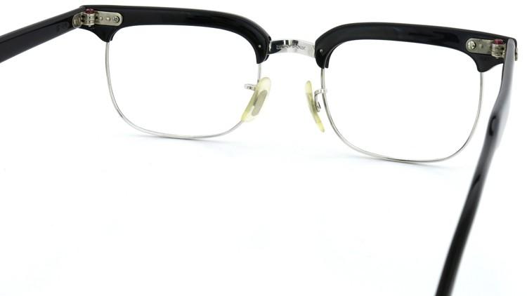 American Optical アメリカンオプチカル (AO)Vintage ヴィンテージ BRONX ブロンクス 1/10-12KGF Black-Wood 48-20 7