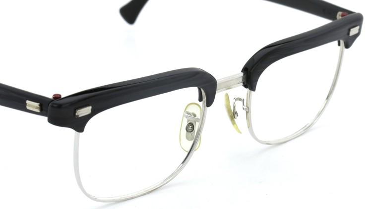 American Optical アメリカンオプチカル (AO)Vintage ヴィンテージ BRONX ブロンクス 1/10-12KGF Black-Wood 48-20 6