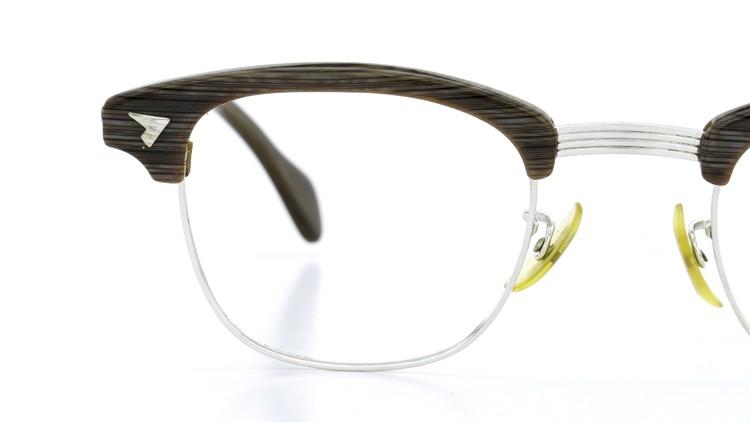 アメリカンオプチカル (AO)Vintage ヴィンテージ 60s マルコムXモデル type:2 ウイング鋲 1/10-12KGF Gray-Wood 46-24 14