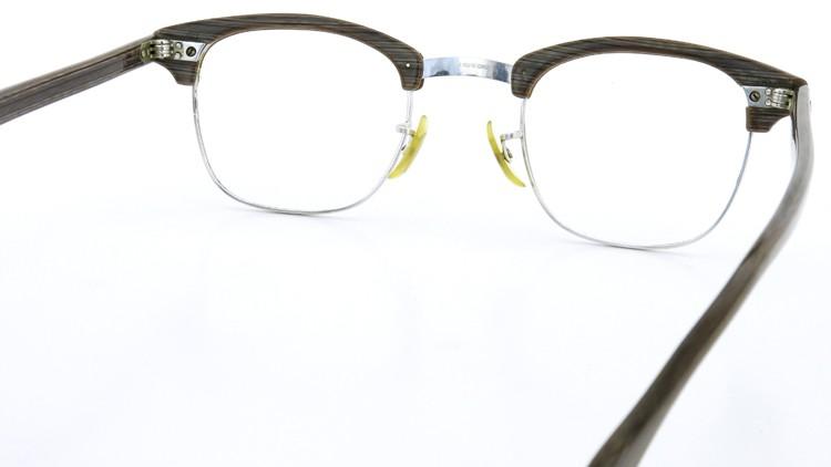 アメリカンオプチカル (AO)Vintage ヴィンテージ 60s マルコムXモデル type:2 ウイング鋲 1/10-12KGF Gray-Wood 46-24 7