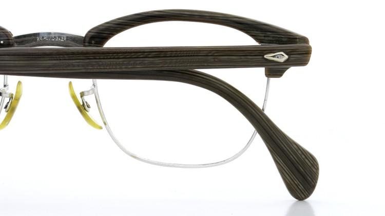 アメリカンオプチカル (AO)Vintage ヴィンテージ 60s マルコムXモデル type:2 ウイング鋲 1/10-12KGF Gray-Wood 46-24 13