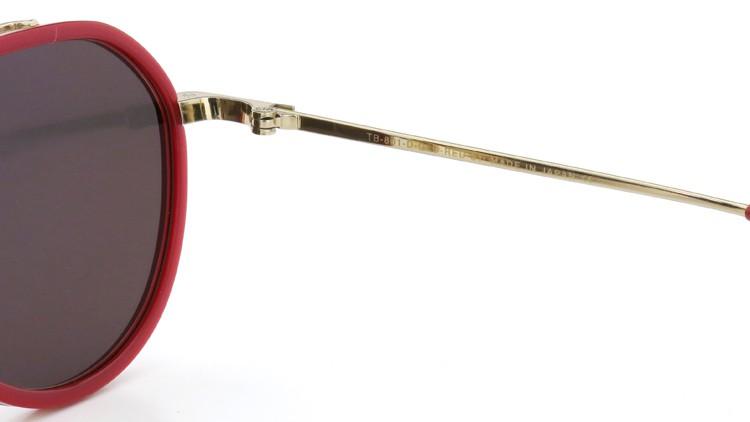 TTHOM BROWNE. (トムブラウン)サングラス TB-801-D GLD-RED-51size  ゴールドミラーダークブラウンフラットレンズ 9