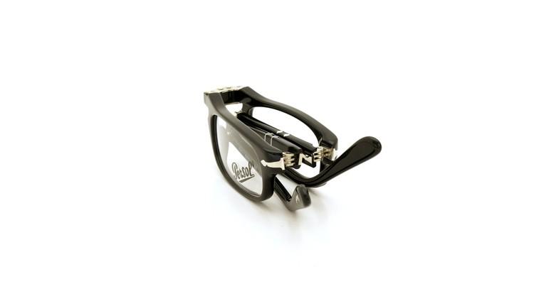 Persol (ペルソール) 折り畳みメガネ 2886-V ブラック 51size 折り畳み手順 7