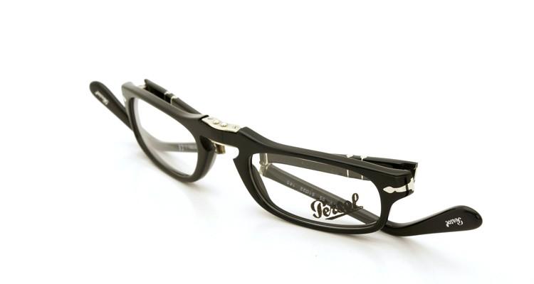 Persol (ペルソール) 折り畳みメガネ 2886-V ブラック 51size 折り畳み手順 3