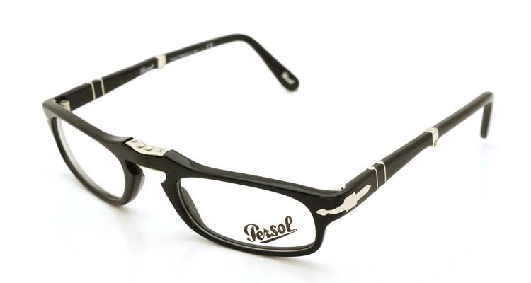 Persol (ペルソール) 折り畳みメガネ 2886-V ブラック 51size 折り畳み手順 1