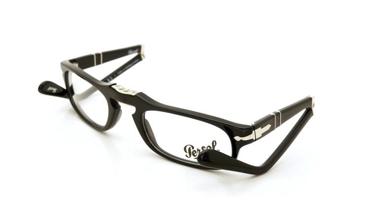 Persol (ペルソール) 折り畳みメガネ 2886-V ブラック 51size 折り畳み手順 2
