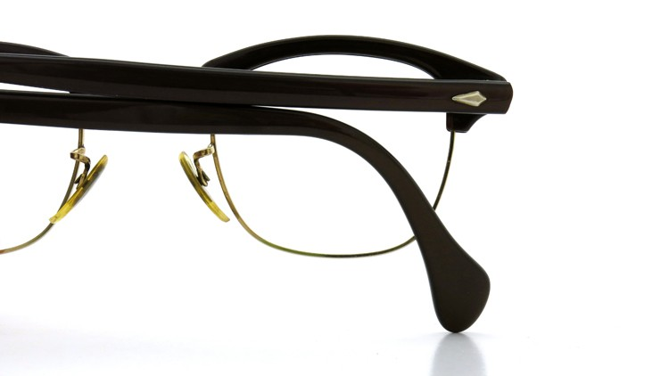 American Optical Vintage 1960s ウイング鋲 1/10-12KGF Brown/Gold 44-24 13