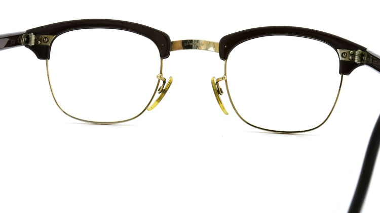 American Optical Vintage 1960s ウイング鋲 1/10-12KGF Brown/Gold 44-24 7