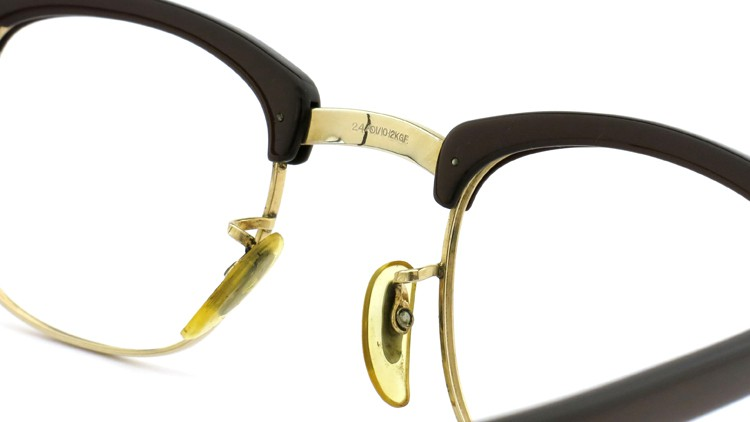 American Optical Vintage 1960s ウイング鋲 1/10-12KGF Brown/Gold 44-24 8