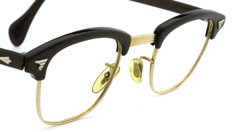 American Optical Vintage 1960s ウイング鋲 1/10-12KGF Brown/Gold 44-24 6