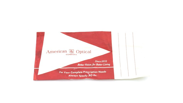 American Optical Vintage メガネ タ?イヤ鋲 BLACK 44-22 ヘ?ーハ?ースリーフ?付き 15