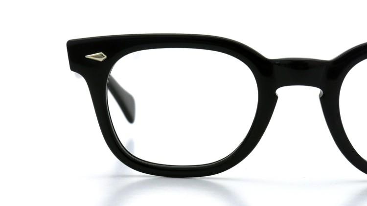 American Optical Vintage メガネ タ?イヤ鋲 BLACK 44-22 ヘ?ーハ?ースリーフ?付き 14