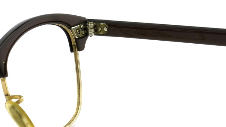American Optical Vintage 1960s ウイング鋲 1/10-12KGF Brown/Gold 44-24 10