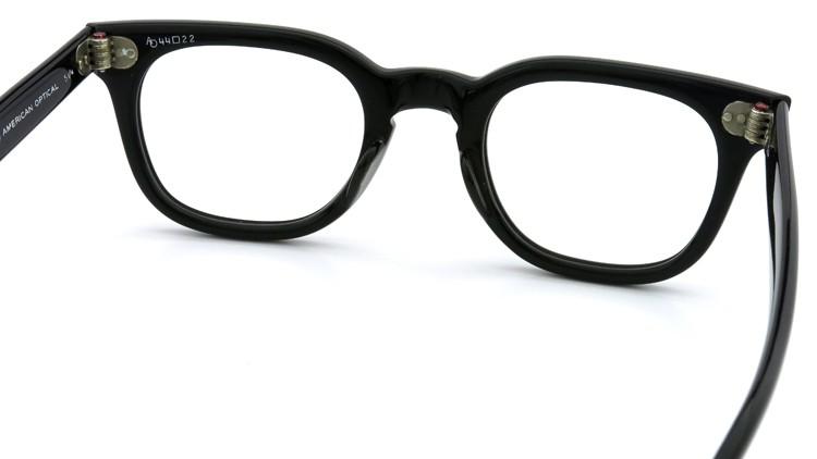 American Optical Vintage メガネ タ?イヤ鋲 BLACK 44-22 ヘ?ーハ?ースリーフ?付き 7