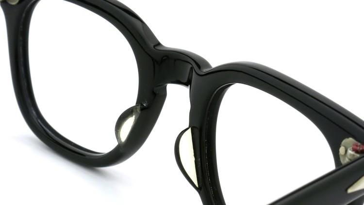 American Optical Vintage メガネ タ?イヤ鋲 BLACK 44-22 ヘ?ーハ?ースリーフ?付き 8