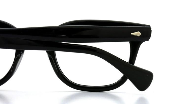 American Optical Vintage メガネ タ?イヤ鋲 BLACK 44-22 ヘ?ーハ?ースリーフ?付き 13