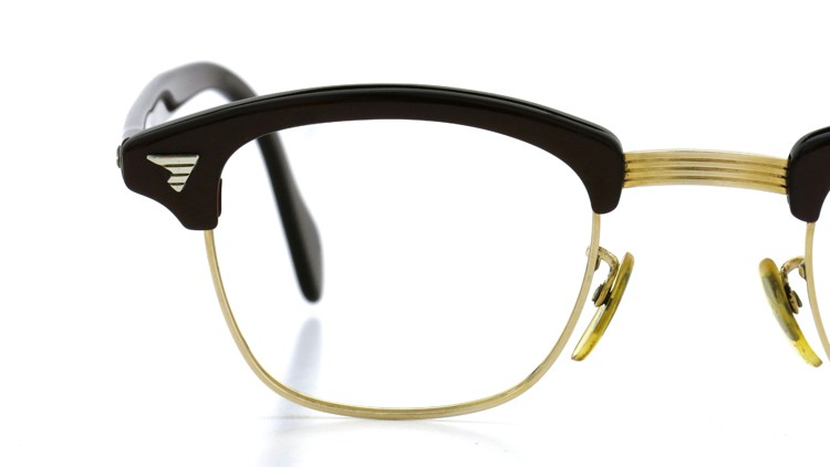 American Optical Vintage 1960s ウイング鋲 1/10-12KGF Brown/Gold 44-24 14