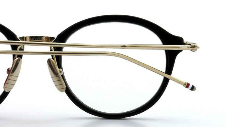 THOM BROWNE. (トムブラウン)メガネ TB-011A 49size BLACK/SHINY 12K GOLD BRIDGE&TEMPLES イメージ11