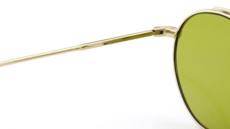 THOM BROWNE. (トムブラウン)サングラス TB-101 B T 12KGOLD 49size Dirty-Yellow-lense 9