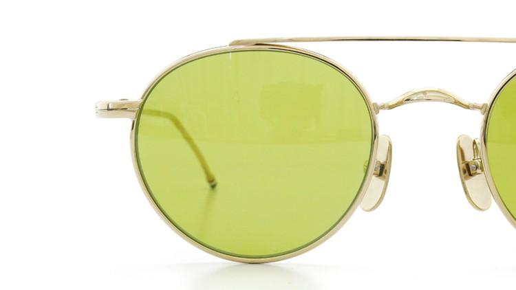 THOM BROWNE. (トムブラウン)サングラス TB-101 B T 12KGOLD 49size Dirty-Yellow-lense 15