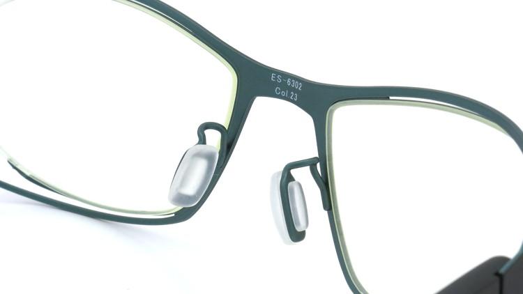 spec espace (スペックエスパス) メガネ ES-6302 ブラック/ダークターコイズブルー 8