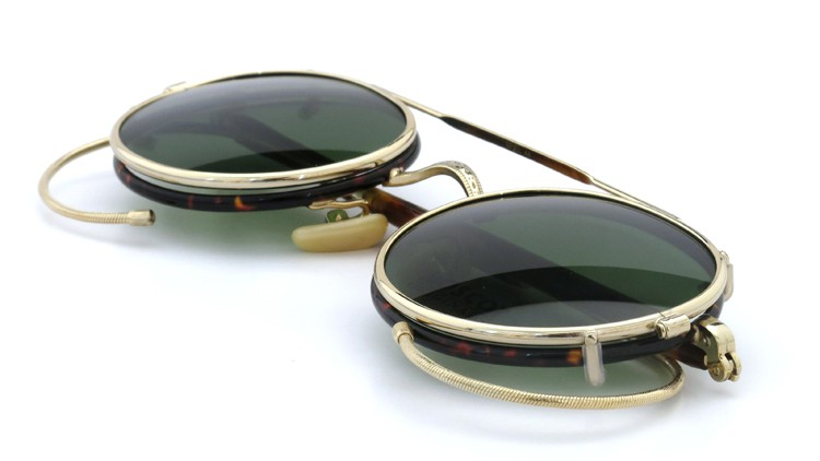 MOSCOT ORIGINALS (モスコット) 2014年新作 メガネ+クリップオンサングラス セット SPIEL 44size Tortoise-Gold with clipon Green-lense 10