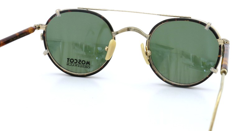 MOSCOT ORIGINALS (モスコット) 2014年新作 メガネ+クリップオンサングラス セット SPIEL 44size Tortoise-Gold with clipon Green-lense 6