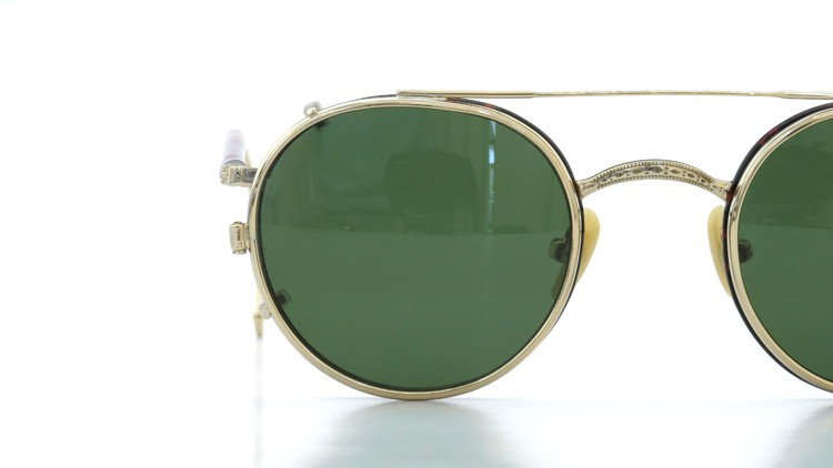 MOSCOT ORIGINALS (モスコット) 2014年新作 メガネ+クリップオンサングラス セット SPIEL 44size Tortoise-Gold with clipon Green-lense 13