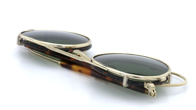 MOSCOT ORIGINALS (モスコット) 2014年新作 メガネ+クリップオンサングラス セット SPIEL 44size Tortoise-Gold with clipon Green-lense 11