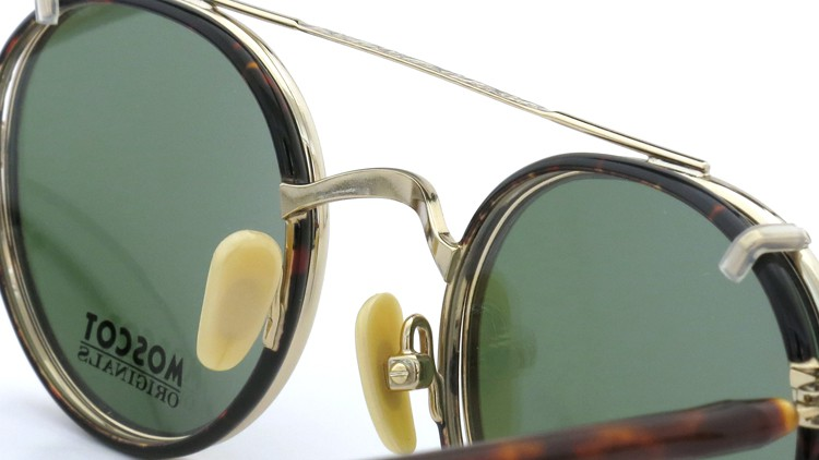 MOSCOT ORIGINALS (モスコット) 2014年新作 メガネ+クリップオンサングラス セット SPIEL 44size Tortoise-Gold with clipon Green-lense 7