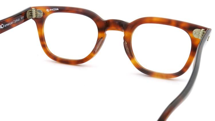 American Optical アメリカンオプチカル (AO)Vintage ヴィンテージ メガネ STADIUM ダイヤ鋲 4568 RF23 TORTOISE 44-24 7