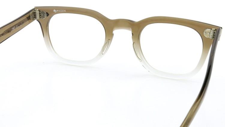 American Optical アメリカンオプチカル (AO)Vintage ヴィンテージ メガネ ダイヤ鋲 Brown Fade 46-24 7