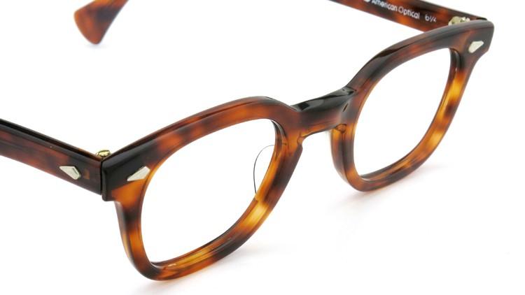 American Optical アメリカンオプチカル (AO)Vintage ヴィンテージ メガネ STADIUM ダイヤ鋲 4568 RF23 TORTOISE 44-24 6