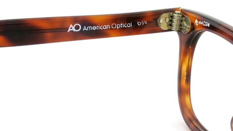 American Optical アメリカンオプチカル (AO)Vintage ヴィンテージ メガネ STADIUM ダイヤ鋲 4568 RF23 TORTOISE 44-24 9
