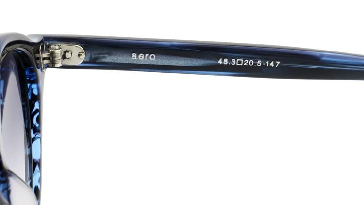 OAMC(オーバーオールマスタークロス)サングラス aero エアロ 48size BLUE SASA/BLUE 1/2 10