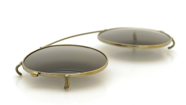 OLIVER PEOPLES オリバーピープルズ クリップオンサングラス 純正OP-505用 アンティークゴールド/グレーグリーン 6