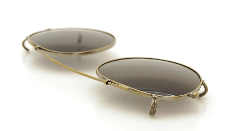 OLIVER PEOPLES オリバーピープルズ クリップオンサングラス 純正OP-505用 アンティークゴールド/グレーグリーン 7