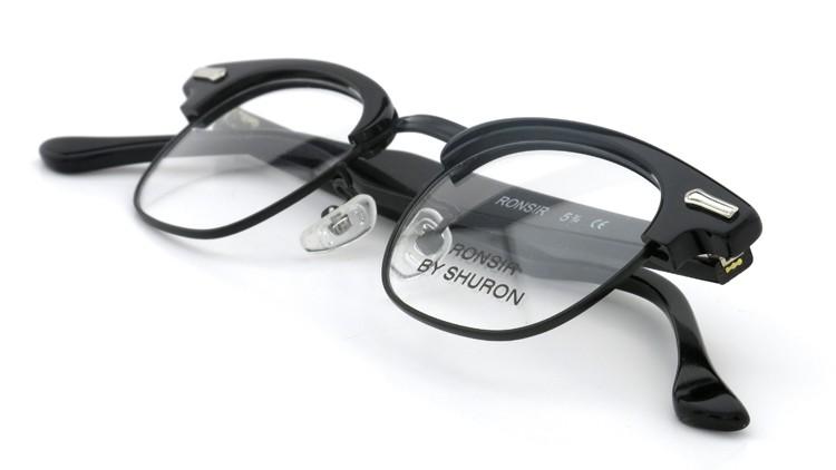 SHURON (シュロン) メガネ RONSIR ロンサー ZYL Black/Black 44-22 11