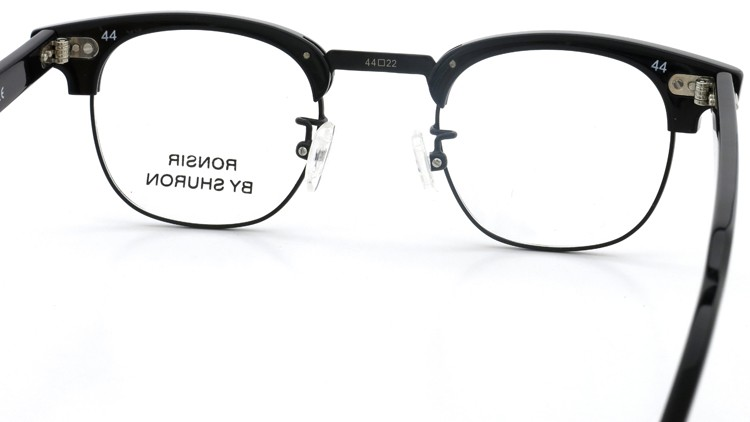 SHURON (シュロン) メガネ RONSIR ロンサー ZYL Black/Black 44-22 7