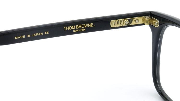 トムブラウン THOM BROWNE メガネ TB-402-A 52size Black 9