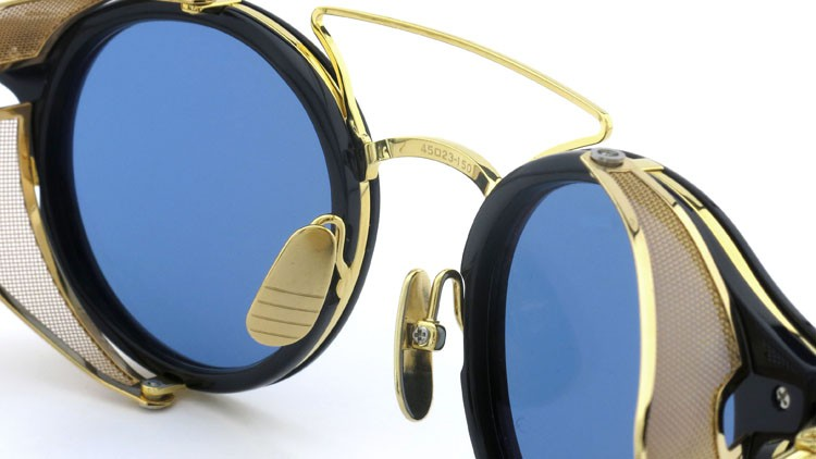 THOM BROWNE.  NEWYORK(トムブラウン) 2014 F/W サングラス TB-804-B NVY-18kGLD 45size Dark-blue-Gold-flash 8