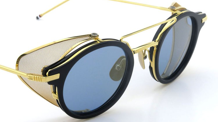 THOM BROWNE.  NEWYORK(トムブラウン) 2014 F/W サングラス TB-804-B NVY-18kGLD 45size Dark-blue-Gold-flash 6