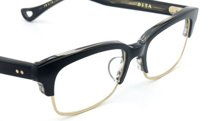 DITA  (ディータ) メガネ RIRE リール DRX-3024-A-BLK-GLD 50size 6