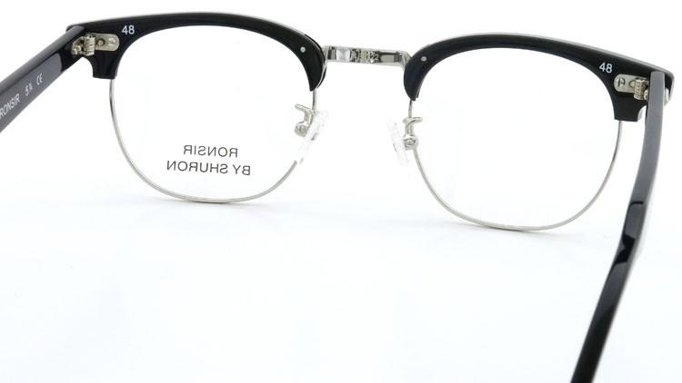 SHURON (シュロン) メガネ RONSIR ロンサー ZYL Black/Silver 48-22 7