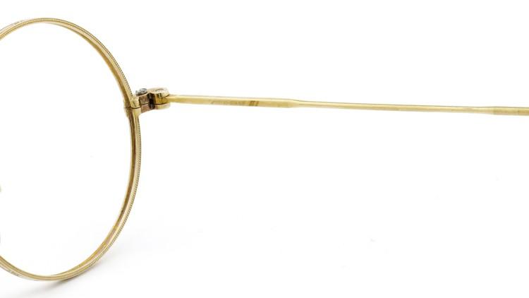 American Optical アメリカン オプティカル  antique アンティーク メガネ 1930s MARSHWOOD 1/10 12kGF 40□24 Yellow-Gold 10