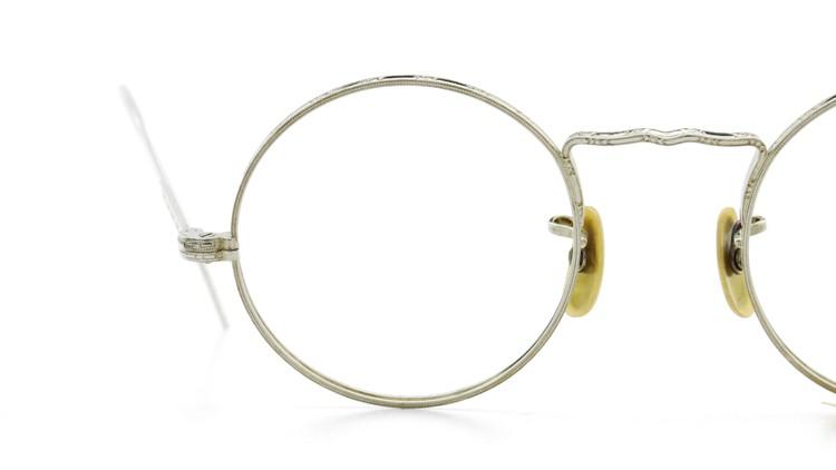 American Optical アメリカン オプティカル  antique アンティーク メガネ 1930s MARSHWOOD 1/10 12kGF 40□20 WHITE-GOLD 15