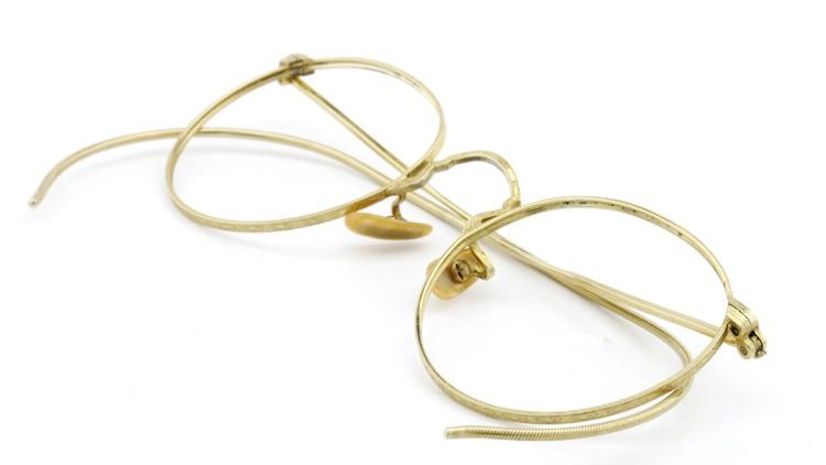 Bausch&Lomb B&L ボシュロム antique アンティーク メガネ 1930's HIBO 1/10 12kGF Gold 11
