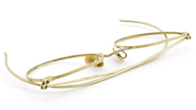Bausch&Lomb B&L ボシュロム antique アンティーク メガネ 1930's HIBO 1/10 12kGF Gold 12