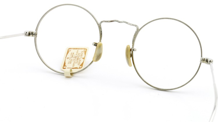 American Optical アメリカン オプティカル  antique アンティーク メガネ 1930s MARSHWOOD 1/10 12kGF 40□20 WHITE-GOLD 6