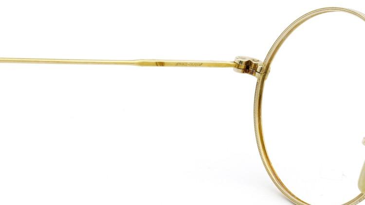 American Optical アメリカン オプティカル  antique アンティーク メガネ 1930s MARSHWOOD 1/10 12kGF 40□24 Yellow-Gold 9